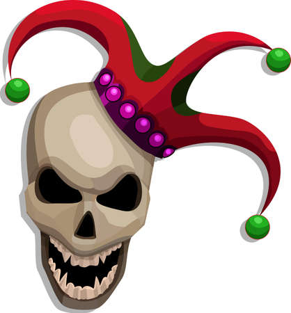 scaled: A vector illustration of a scary scull.  All obgects can be moved edited and scaled separetly without quality loss. Illustration