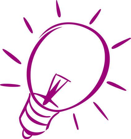 A violet icon of a light-bulbof a light-bulb photo