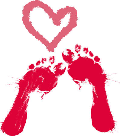 girls feet: A footprint Illustration