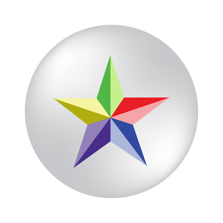colored stars on a white background