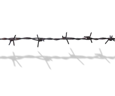 trespass: barbed wire Stock Photo