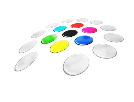 obszarze koloru