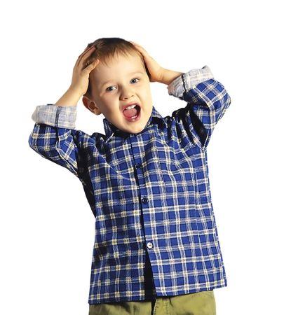 Krzyk dziecka Zdjęcie Seryjne