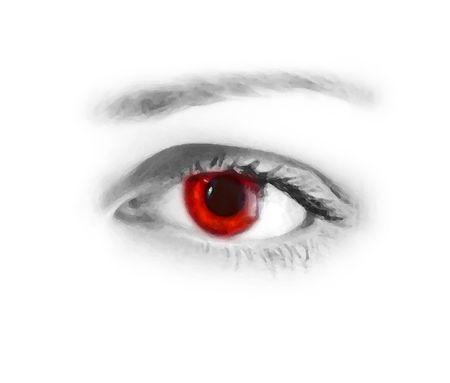 oeil rouge: Yeux rouges  Banque d'images
