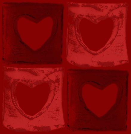 Valentines serca Zdjęcie Seryjne