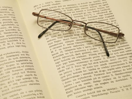glasses and book Zdjęcie Seryjne