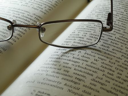 glasses and book Stock Photo
