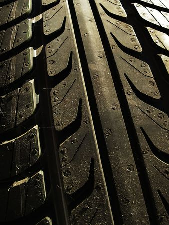 traction: new tyre Stock Photo