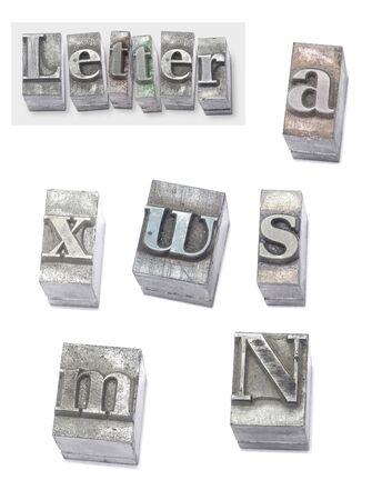 letter - set type Stock Photo