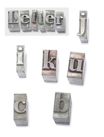 monotype: letter - set type Stock Photo