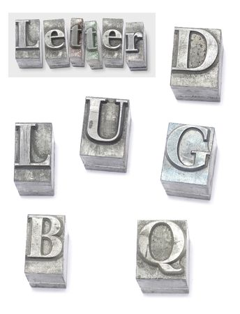 movable: letter - set type Stock Photo