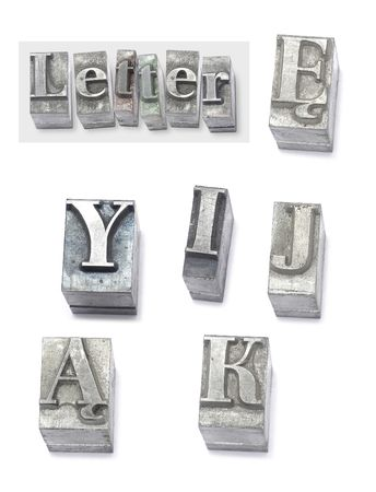 letter - set type Stock Photo - 399396