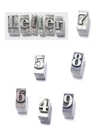 letter - set type Stock Photo