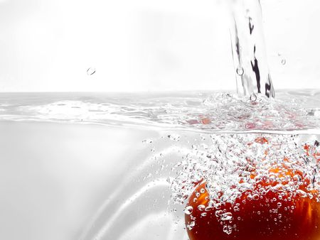 Tomato in water