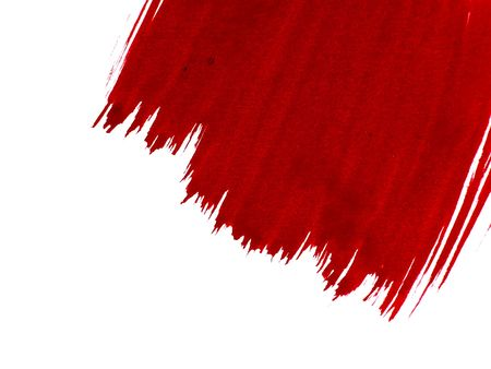 handled: Red paint Stock Photo