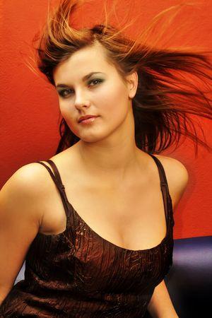 Portret piękna kobieta Zdjęcie Seryjne