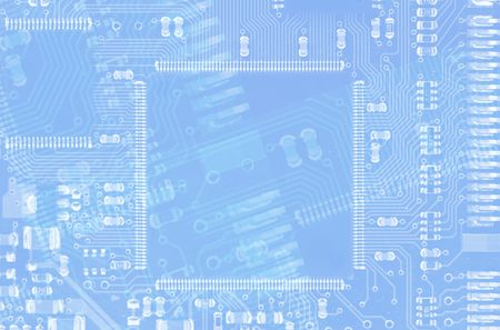 mainboard: The computer chip and mainboard, background