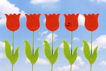 An artificial tulip, hand made Stock Photo - 870876