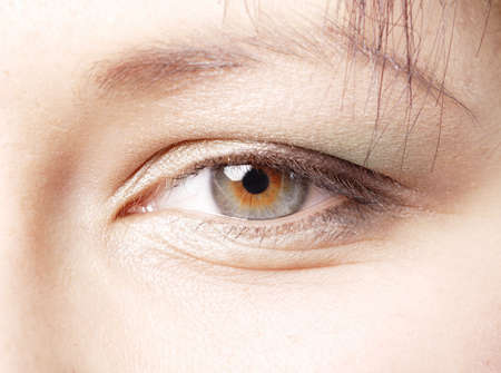 Depicting at beautician eye