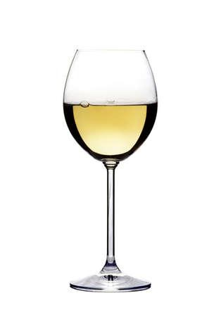 Close-up widzenia wineglass na białym tle