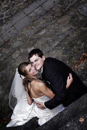 Romantic wedding couple. Photo session