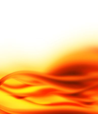 Kontekst - czerwone i żółte płomienie