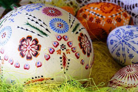 Kolorowe easter egg - r?cznie malowane Zdjęcie Seryjne