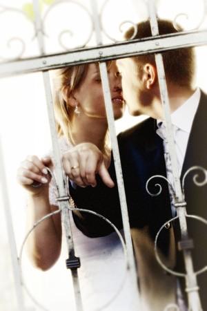 Szczęśliwe młodych parowych - kobieta i mężczyzna Zdjęcie Seryjne