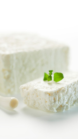 rennet: Healthy, delicious curd made from cow Stock Photo