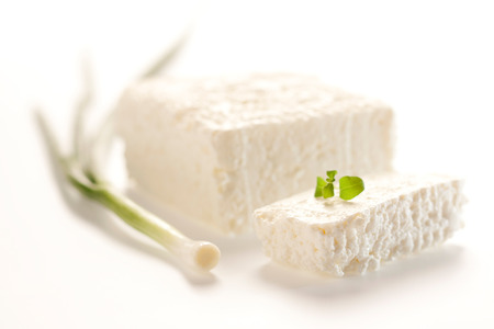 Zdrowe, smaczne twaróg wykonane z krowy