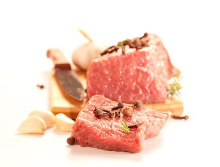 Wołowina - serwująca surowe mięso na kolację. Zdjęcie Seryjne