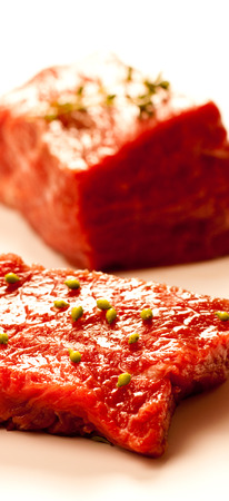 Beef serving raw meat for dinner. Zdjęcie Seryjne