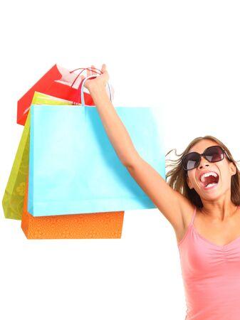 Shopping woman happy photo