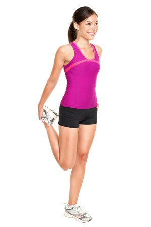 Fitness woman stretching full body. photo