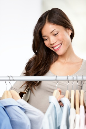 Shopping for clothing.  Stock Photo - 12344075