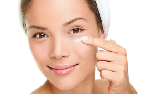 Beauty eye contour cream, wrinkle cream or anti-aging skin care cream photo