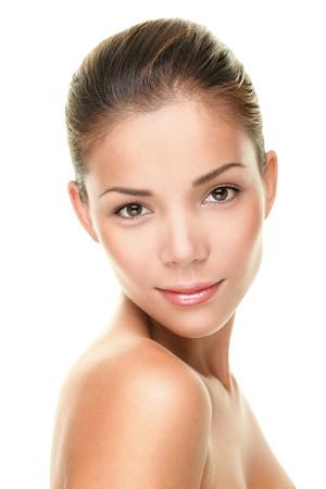 美容皮膚ケア顔アジアの若い女性の肖像画 写真素材