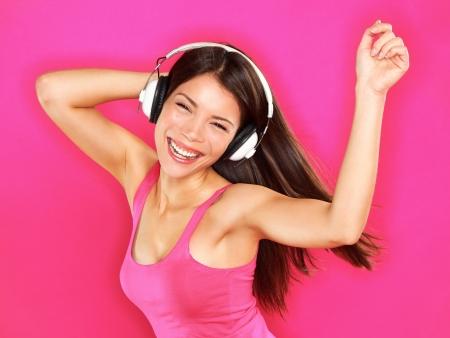 Frau mit Kopfhörern Lizenzfreie Bilder - 21462885