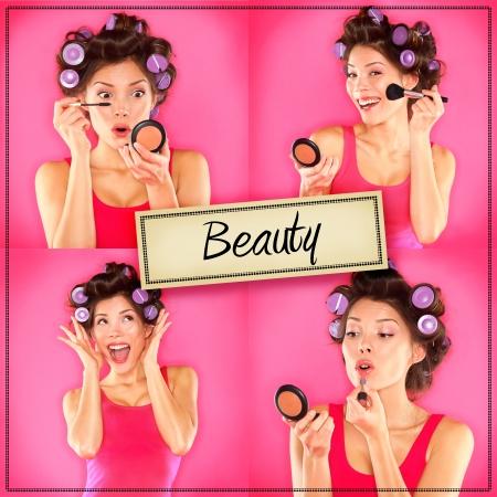 Schönheit Frau Make-up Konzept Collage-Serie Lizenzfreie Bilder - 21462898