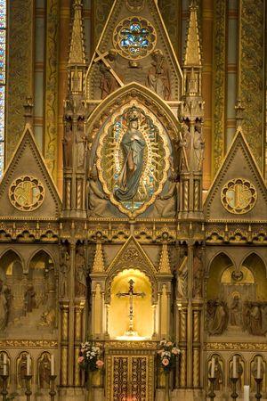 matthias: The sanctuary in St. Matthias church, Budapest Editorial