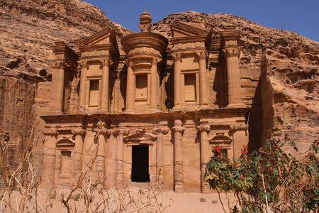 petra  jordan: Monastery in ancient Petra, Jordan Stock Photo