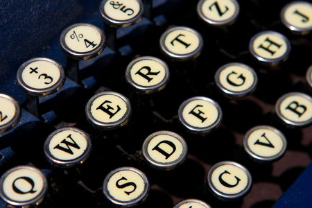 typewrite: The keyboard of an old typewrite