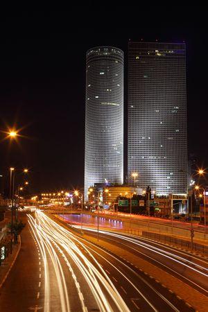 Skyscrapers in the center of Tel Aviv photo