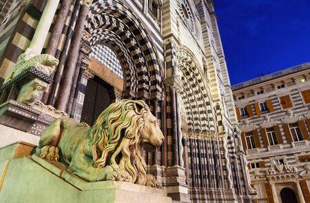 lorenzo:   Cathedral of St. Lawrence (st Lorenzo) Genoa Italy