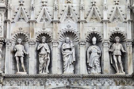 como: Como in Italy, Loggia of The Saints, Facade of Dome  Stock Photo