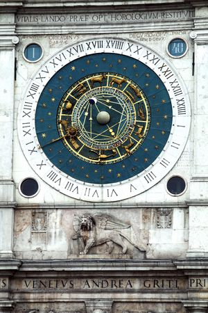 Unique Zodiac clock on Piazza San Marco, Venice photo