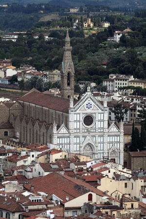 Basilica di Santa Croce (Church of the Holy Cross), in Florence, Italy  photo