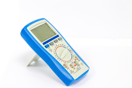 Digital multimeter on white background, part of Digital multimeter.