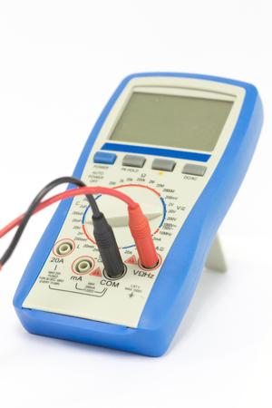 Digital multimeter on white background, part of Digital multimeter.