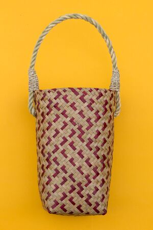 Lepironia articalata (Krajood) or Sedge handmade bag for Cold storage bag. 写真素材